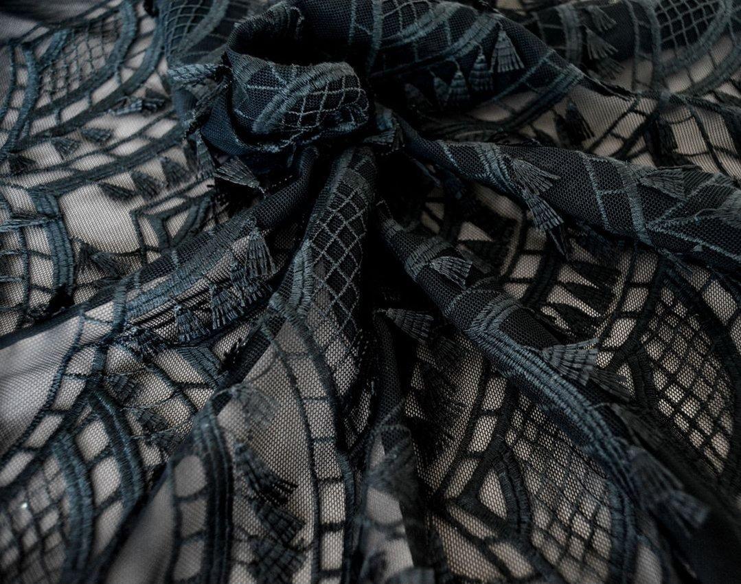 Декоративная вышивка на сетке арт. 230530562, фото 3