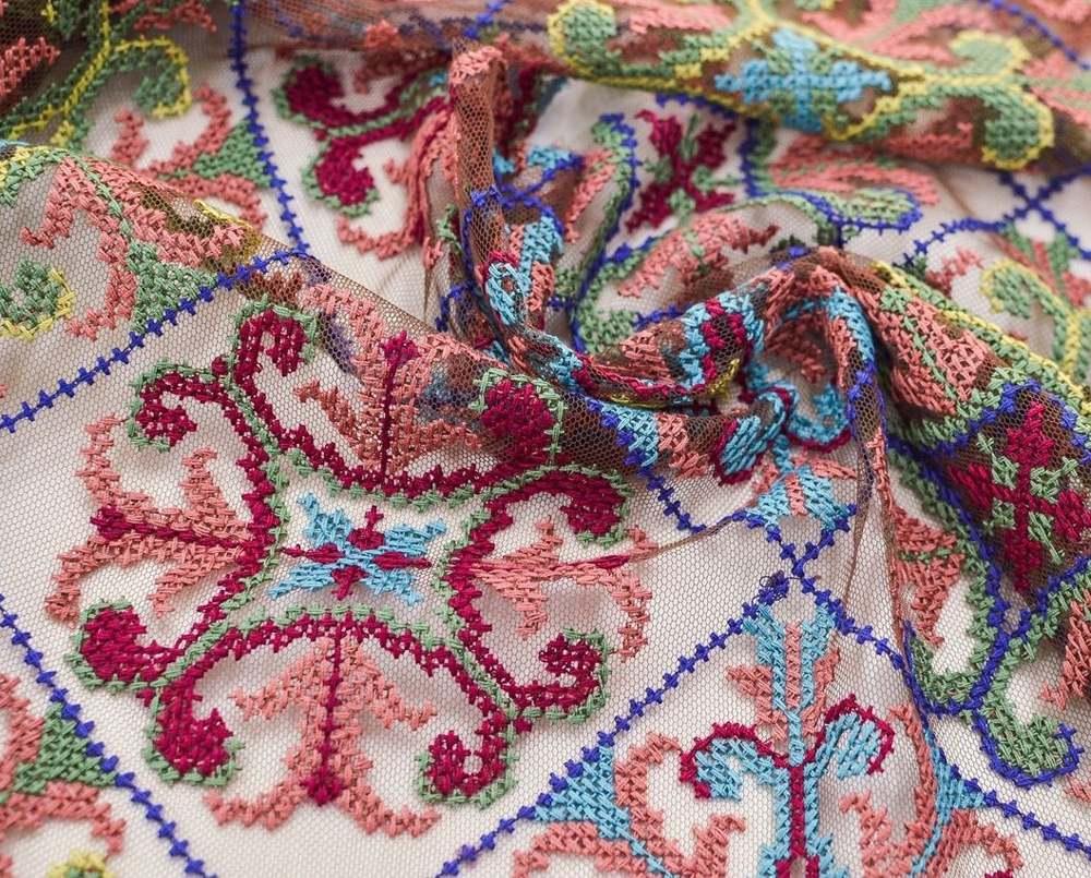 Вышивка крестиком на сетке (в народном стиле) арт. 230999932, фото 2