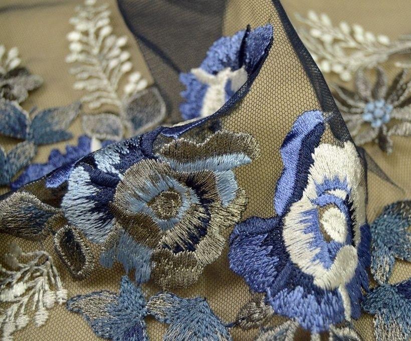 Декоративная вышивка на сетке арт. 230532162, фото 1