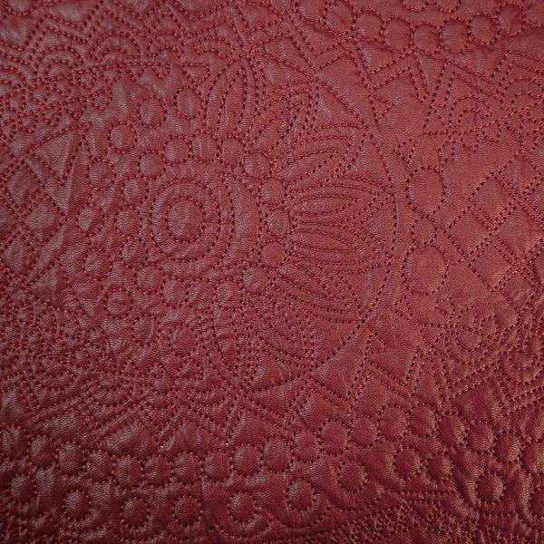 Утепленная искусственная кожа с вышивкой арт. 2175632, фото 1
