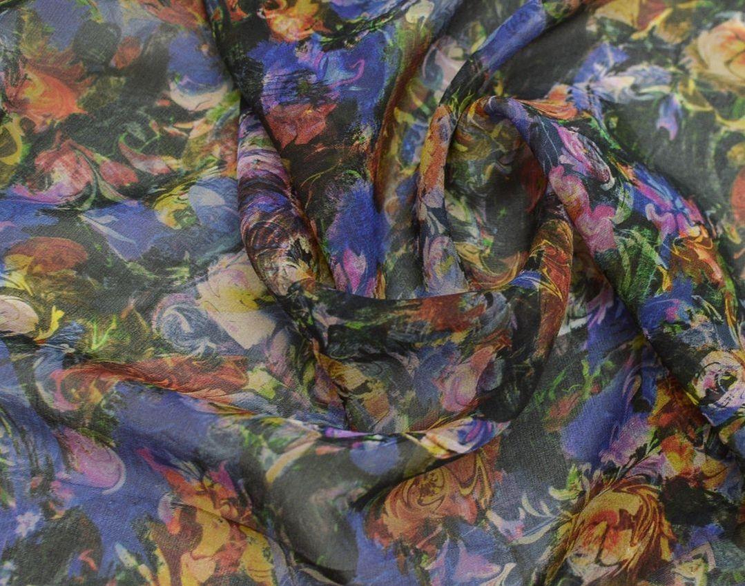 Шифон шелковый плательно-блузочный арт. 230819122, фото 2