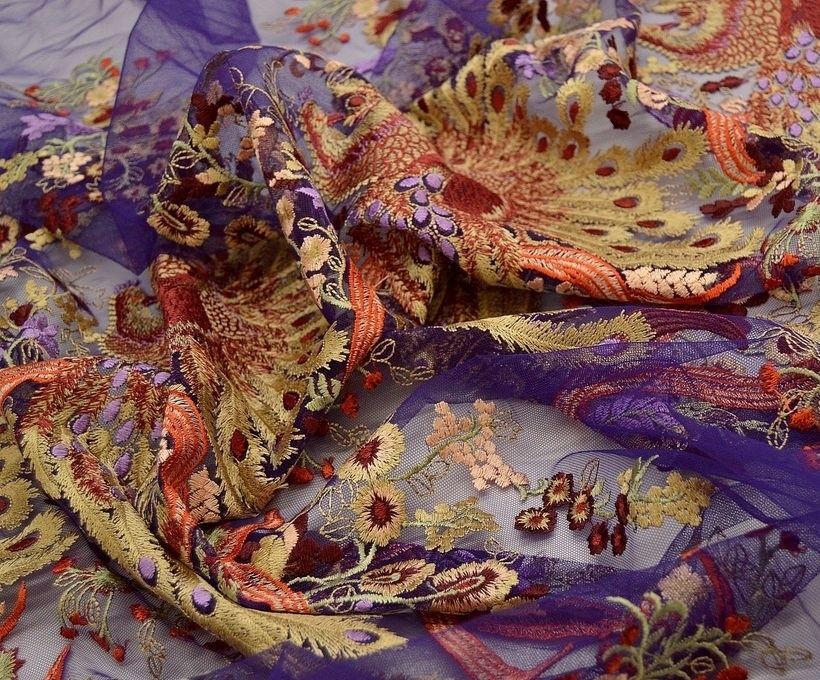 Декоративная вышивка на сетке арт. 230668272, фото 3