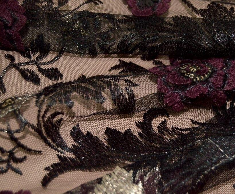 Декоративная вышивка на сетке арт. 230507272, фото 2