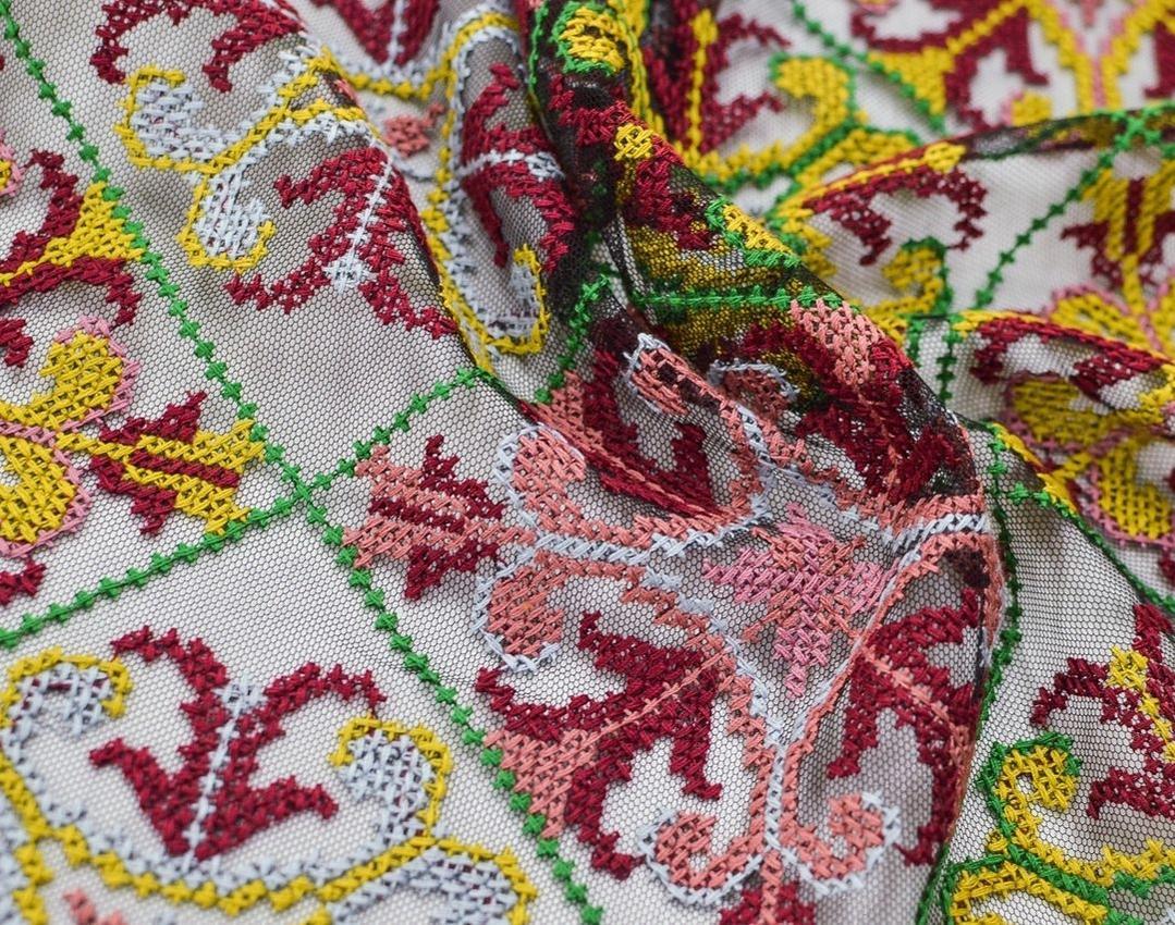 Вышивка крестиком на сетке (в народном стиле) арт. 230999862, фото 2
