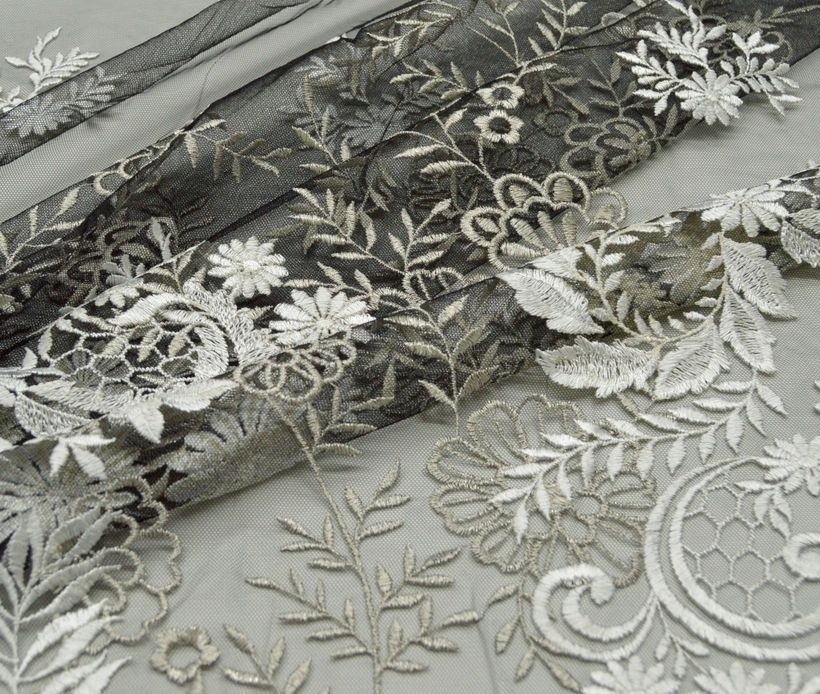 Декоративная вышивка на сетке арт. 230606102, фото 3