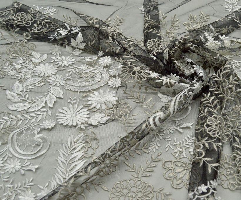 Декоративная вышивка на сетке арт. 230606102, фото 1