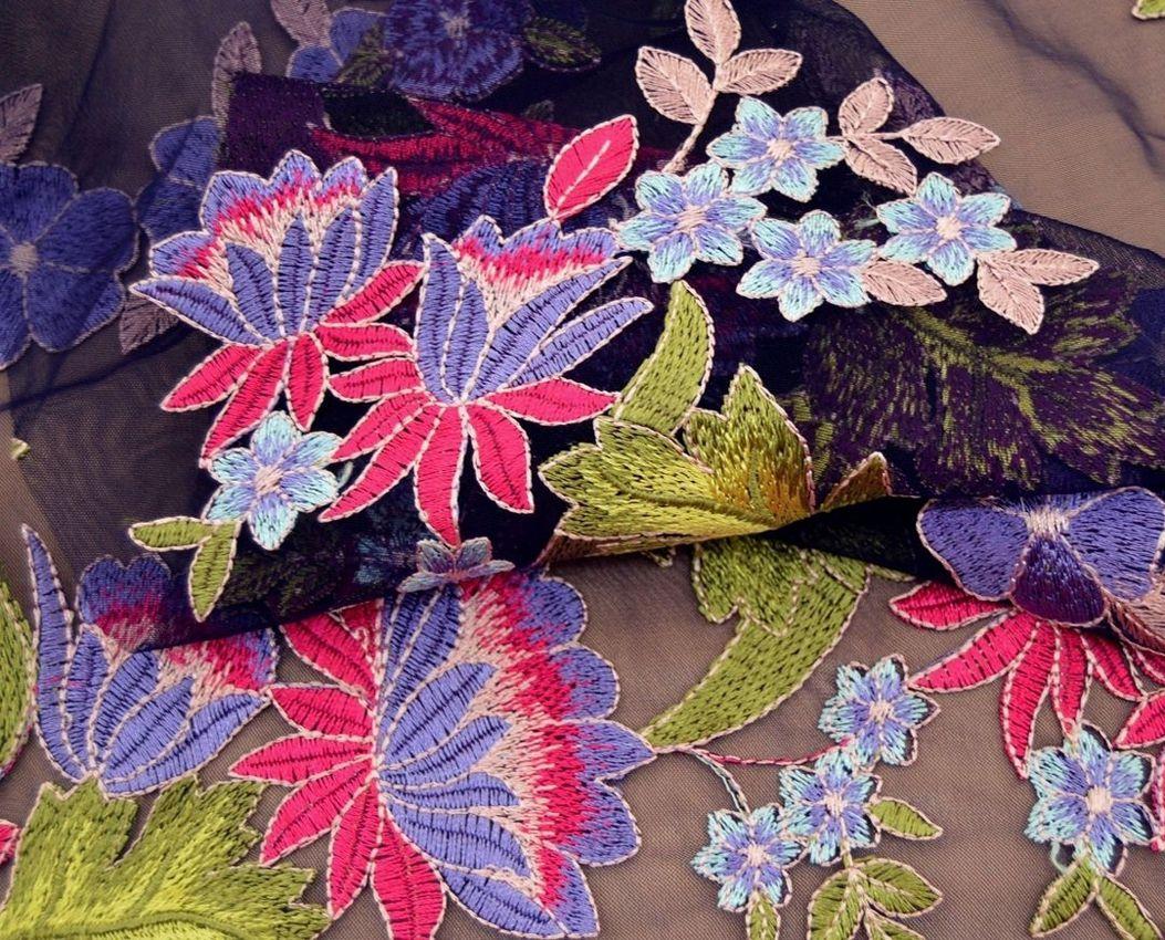Декоративная вышивка на сетке арт. 230534522, фото 2
