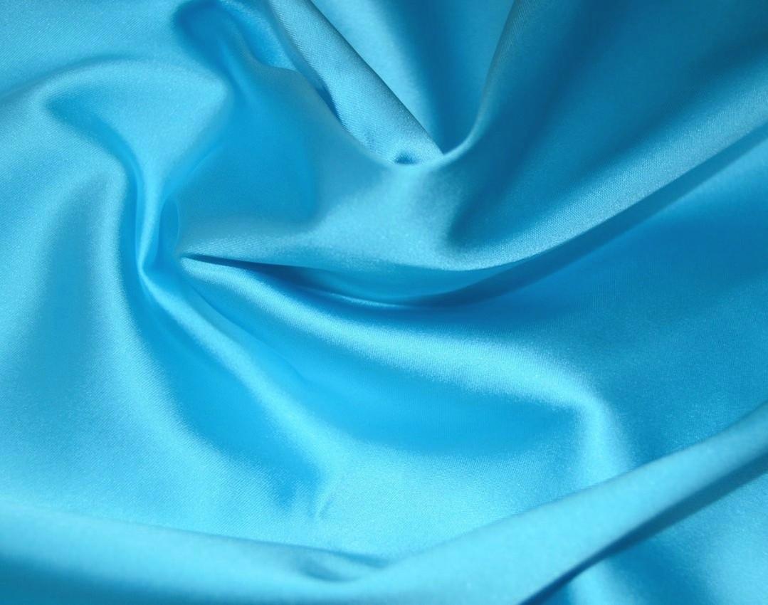 Атлас плательно -костюмный Бирюзовый арт. 2546502, фото 2