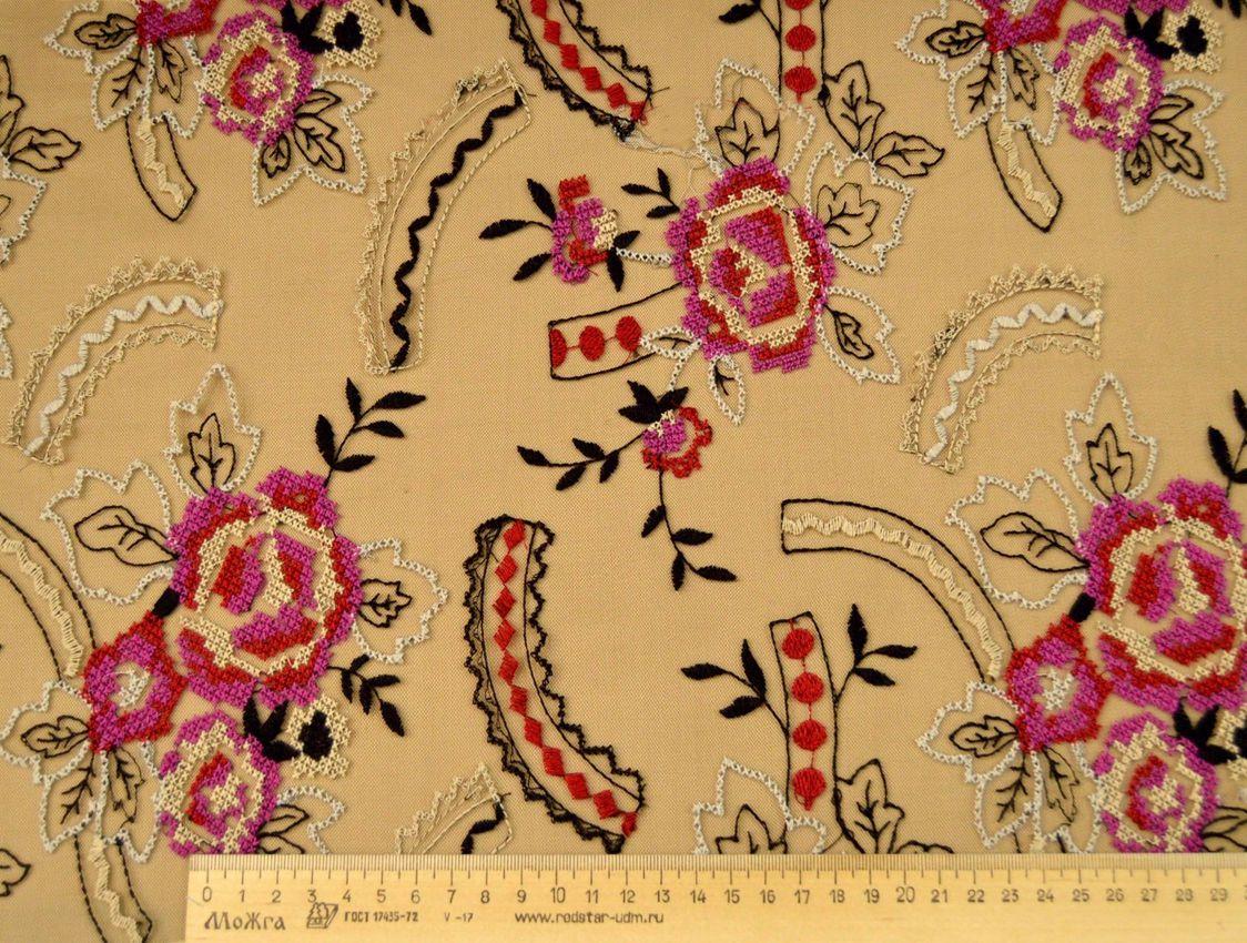 Декоративная вышивка на сетке арт. 230531552, фото 2