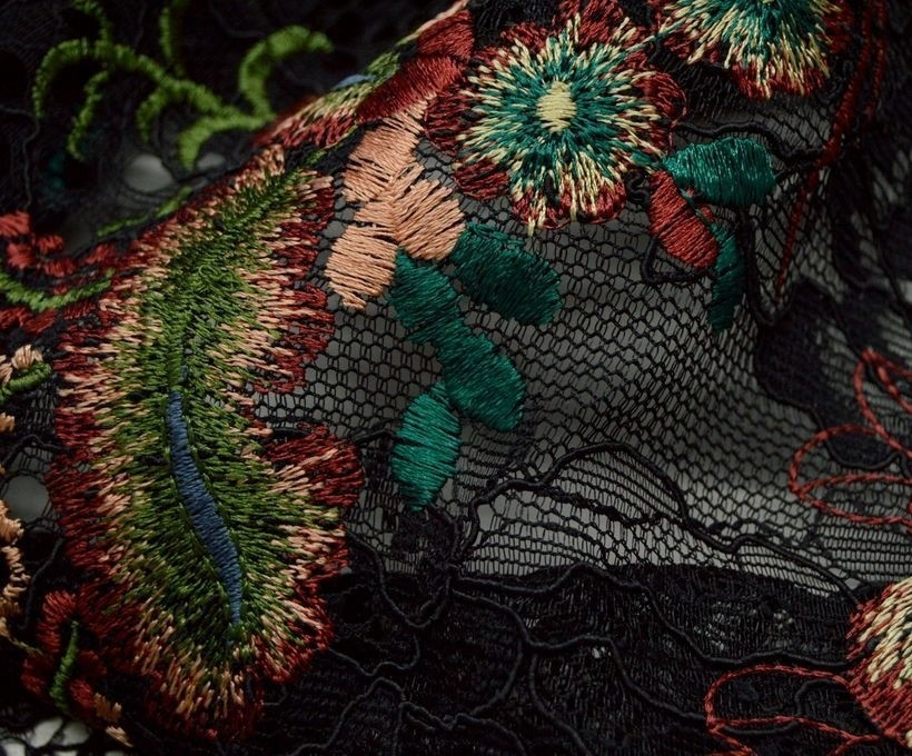 Декоративная вышивка на гипюре арт. 230605352, фото 3