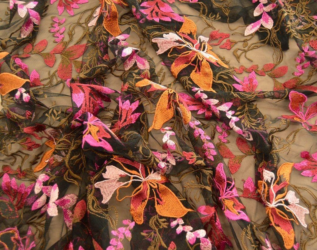 Декоративная вышивка на сетке арт. 230534452, фото 2