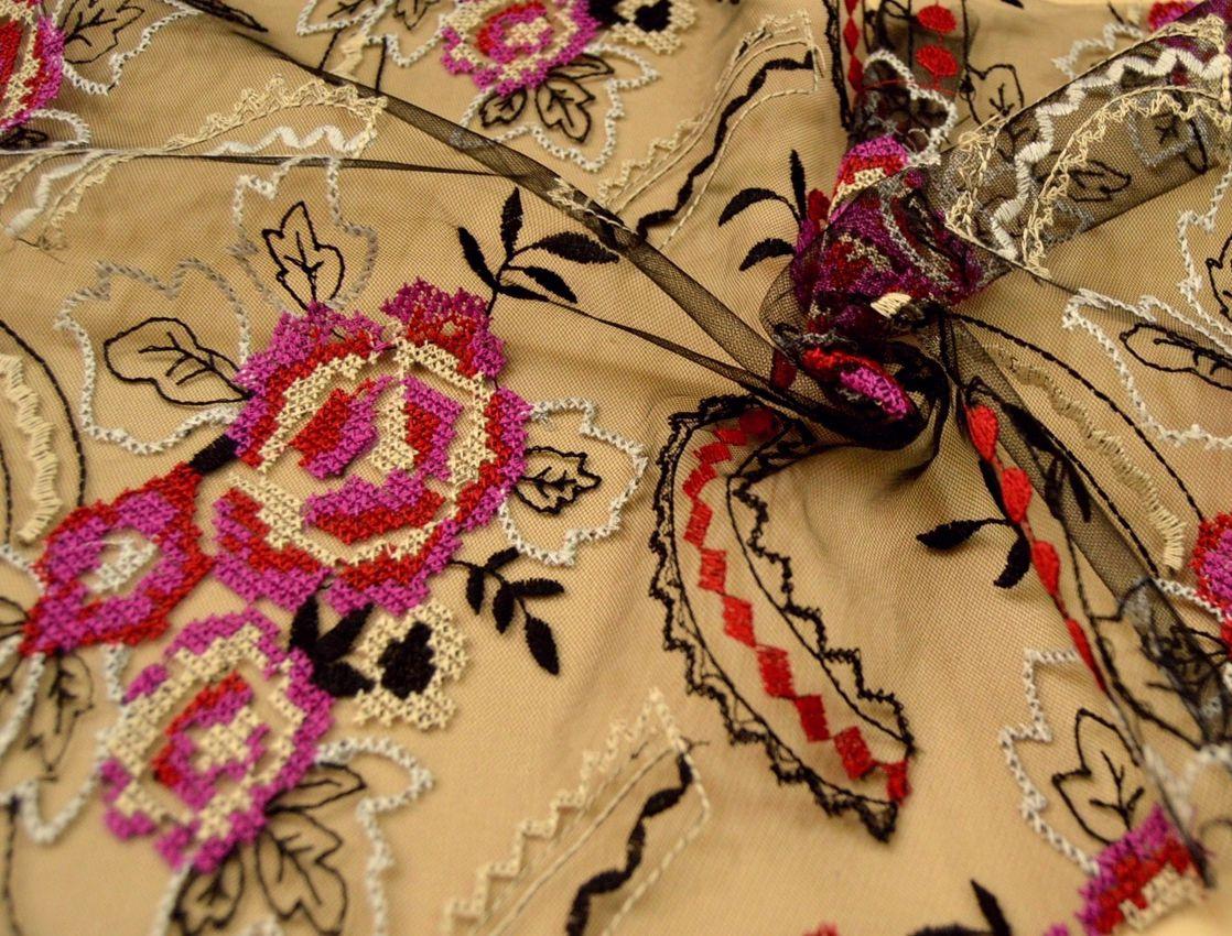Декоративная вышивка на сетке арт. 230531552, фото 1