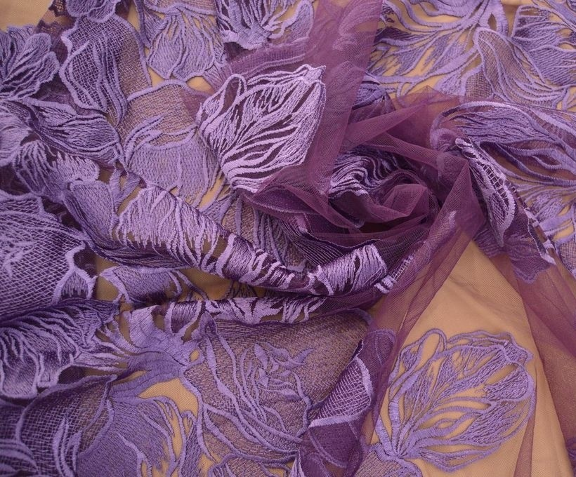 Декоративная вышивка на сетке арт. 230533462, фото 2