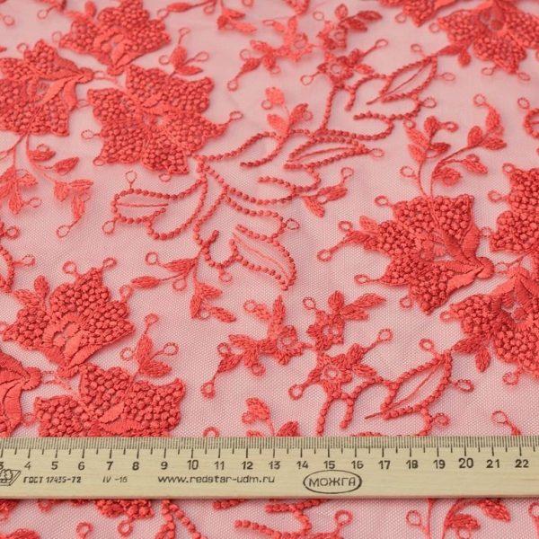 Вышивка на сетке (цветочный рисунок) арт. 230959402, фото 1