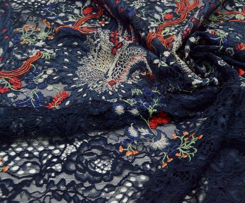 Декоративная вышивка на сетке арт. 230605592, фото 1