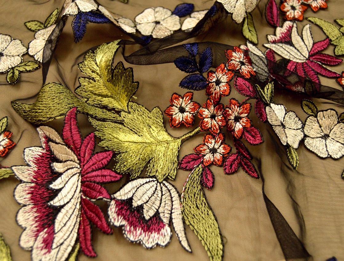 Декоративная вышивка на сетке арт. 230534692, фото 3