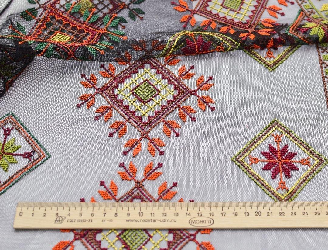 Вышивка крестиком на сетке (в народном стиле) арт. 230999482, фото 1