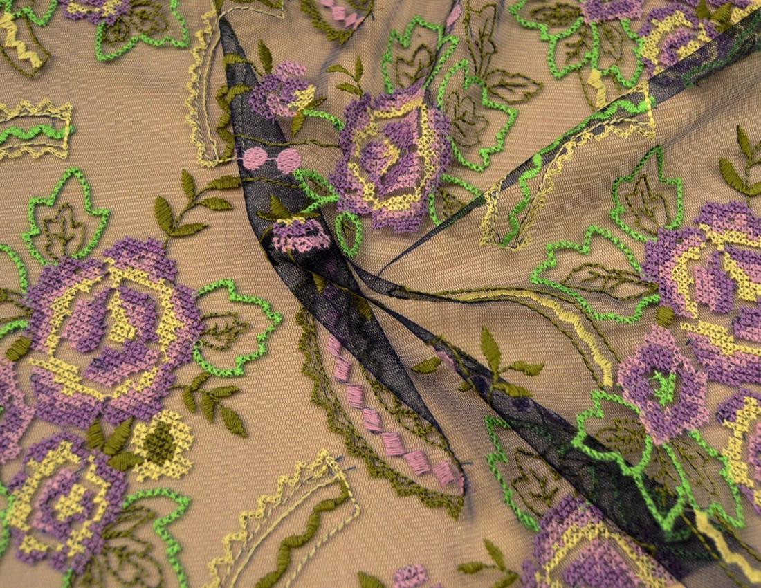Декоративная вышивка на сетке арт. 230531312, фото 1