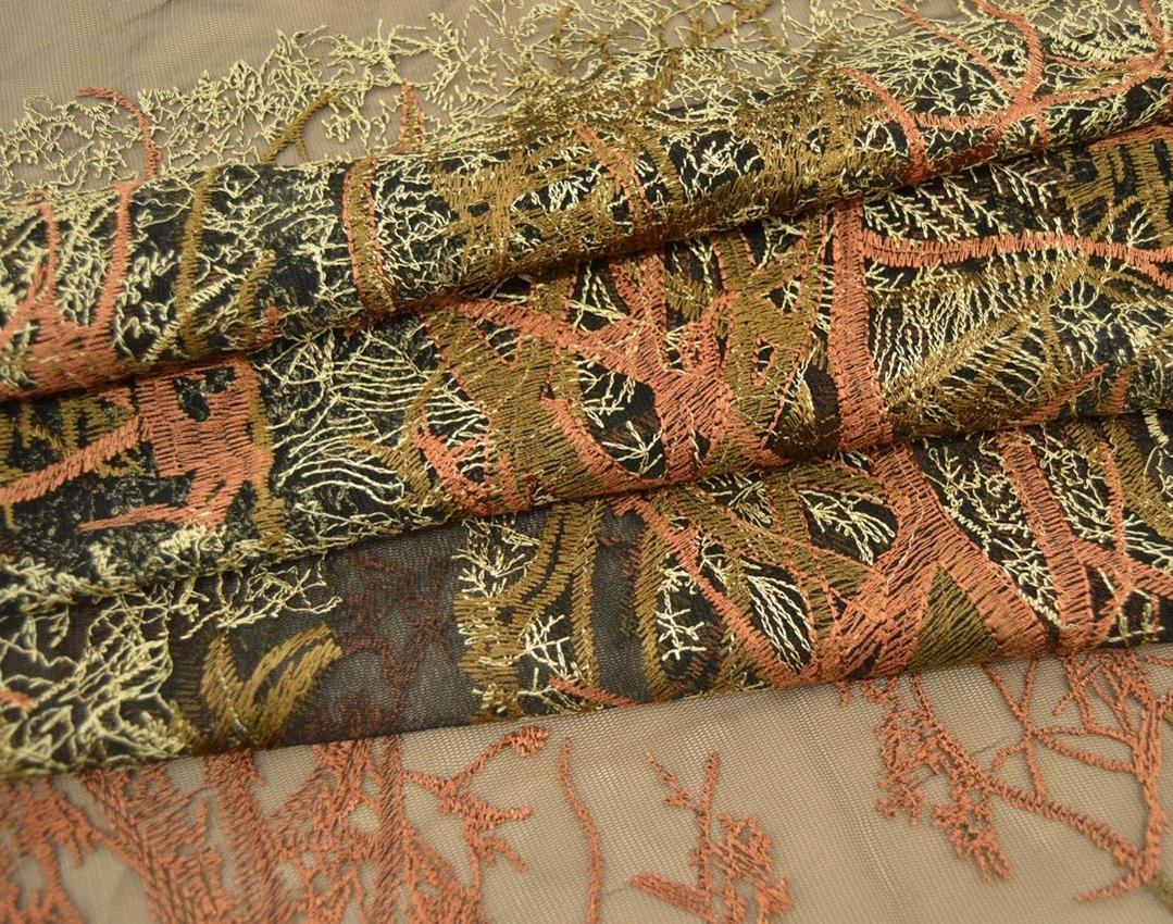 Декоративная вышивка на сетке арт. 230533152, фото 2