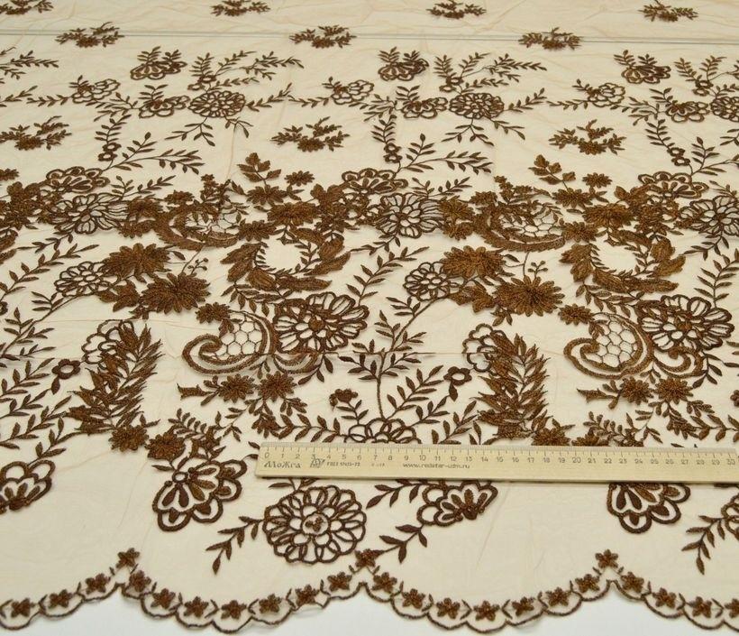 Декоративная вышивка на сетке арт. 230606032, фото 1