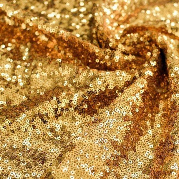 Мелкие пайетки на трикотаже Золото арт. 230925502, фото 1
