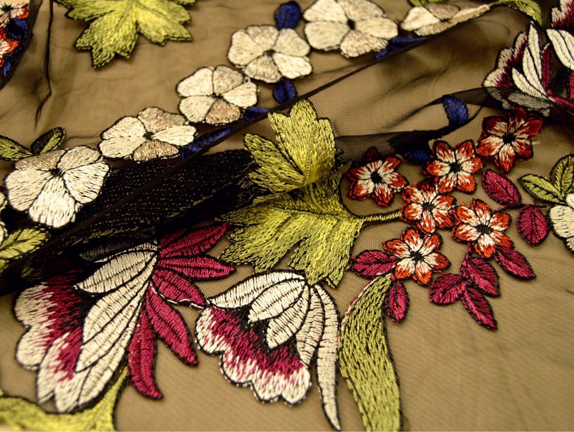 Декоративная вышивка на сетке арт. 230534692, фото 2