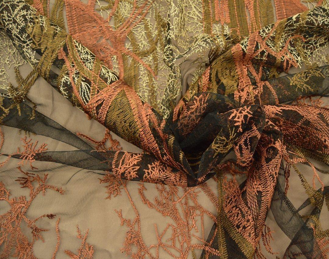 Декоративная вышивка на сетке арт. 230533152, фото 3