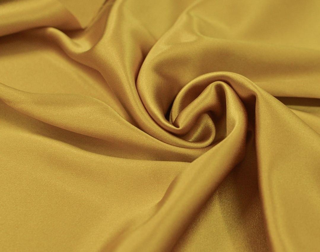 Шелковый атлас плательно- блузочный Горчица арт. 233/79272, фото 1