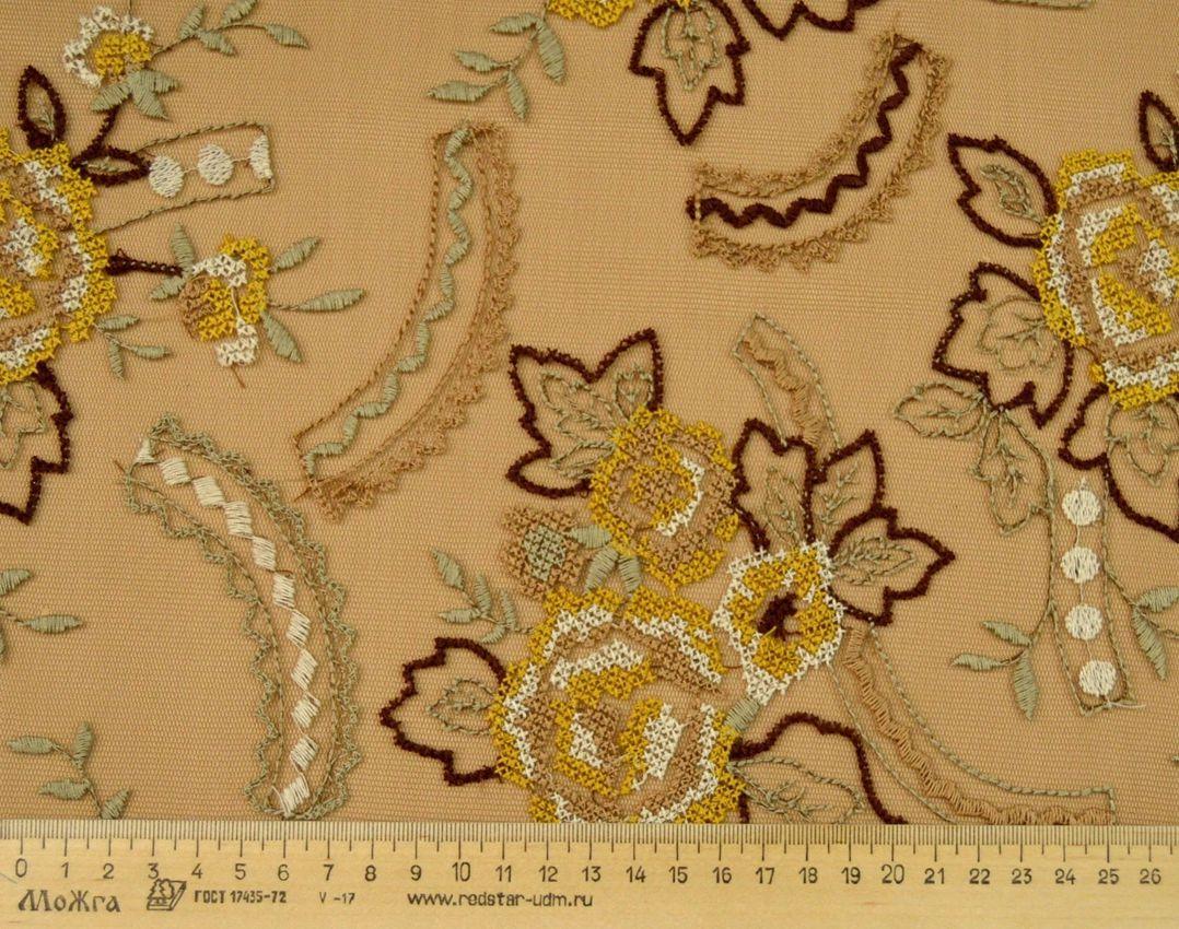 Декоративная вышивка на сетке арт. 230531482, фото 3