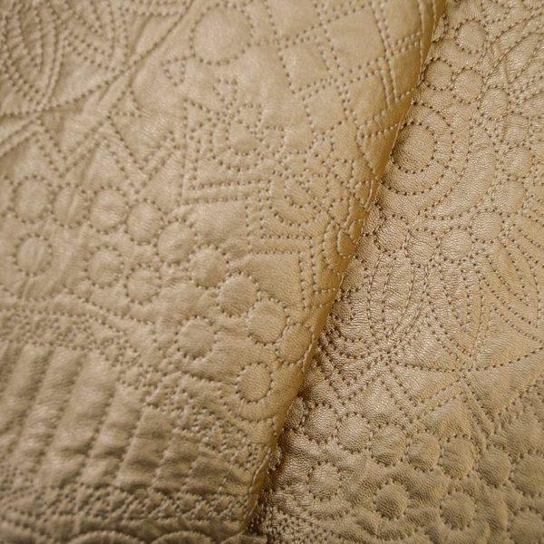 Утепленная искусственная кожа с вышивкой арт. 2175492, фото 2