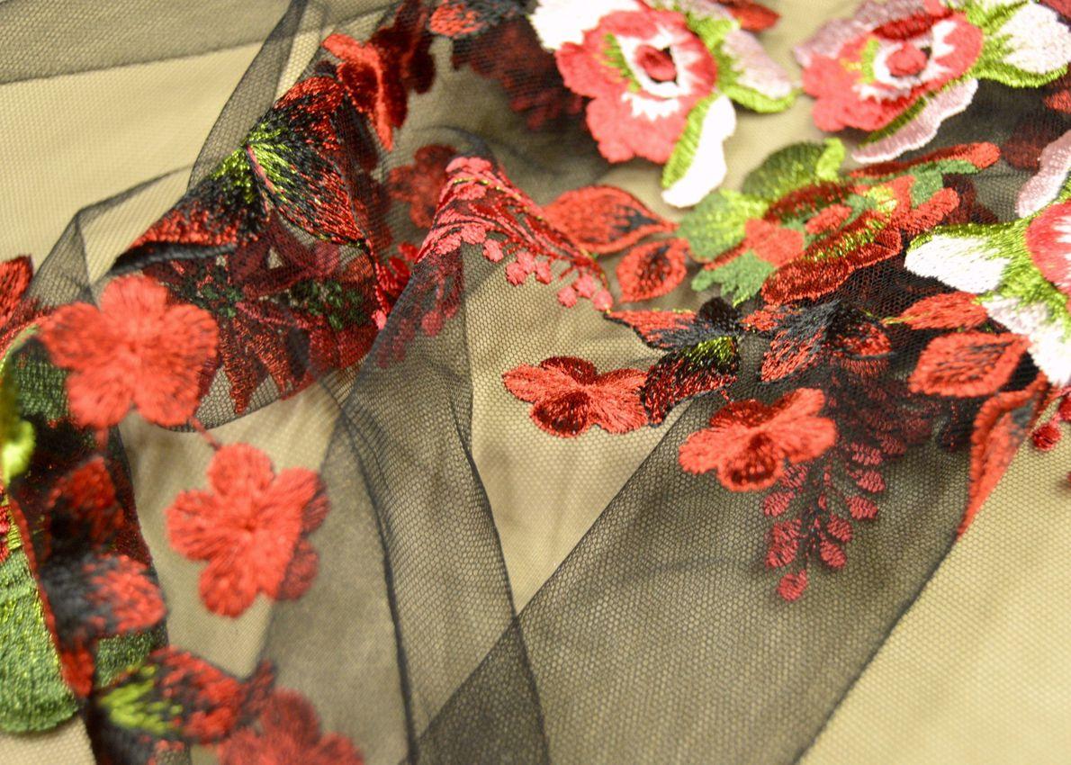 Декоративная вышивка на сетке арт. 230532232, фото 1