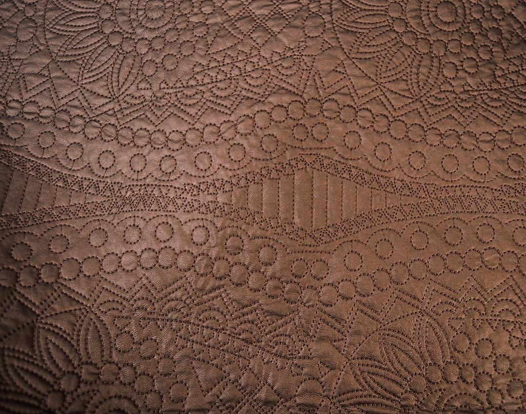 Утепленная искусственная кожа с вышивкой арт. 2175252, фото 1