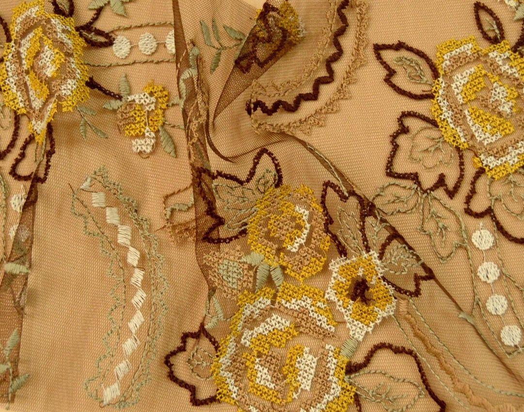 Декоративная вышивка на сетке арт. 230531482, фото 2