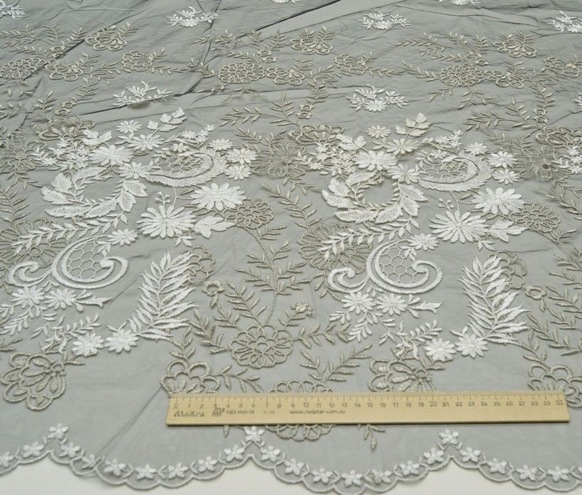 Декоративная вышивка на сетке арт. 230606102, фото 2