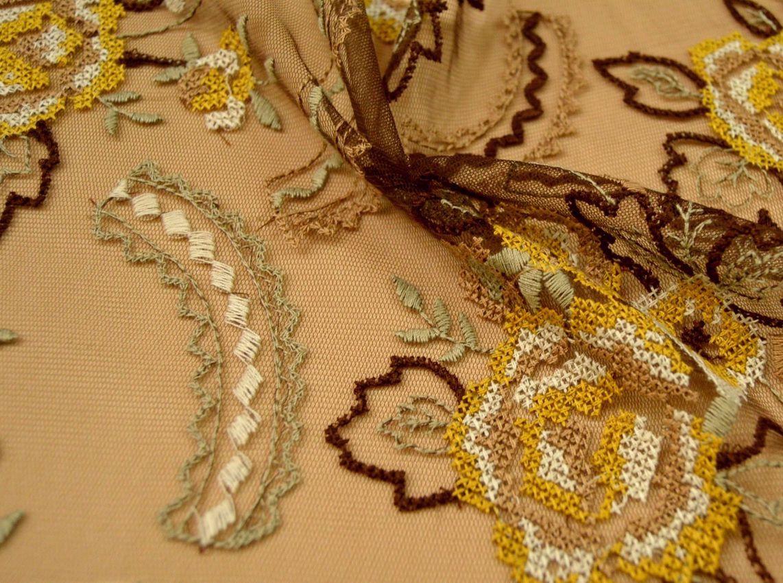 Декоративная вышивка на сетке арт. 230531482, фото 1