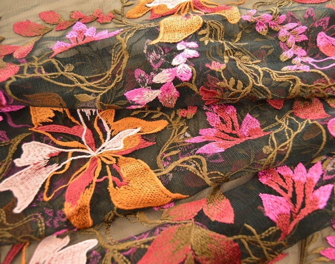 Декоративная вышивка на сетке арт. 230534452, фото 3