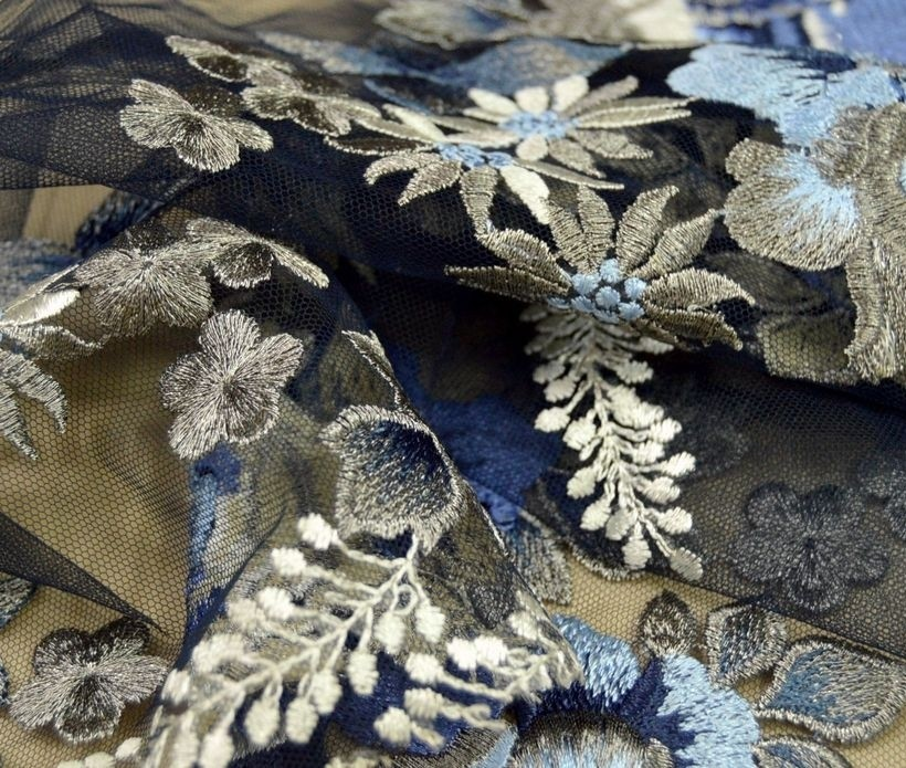 Декоративная вышивка на сетке арт. 230532162, фото 2