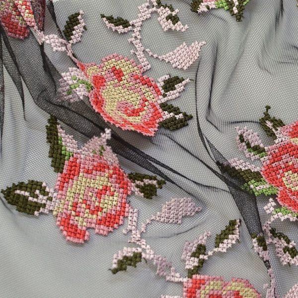 Вышивка крестиком на сетке (розочки) арт. 230999552, фото 2