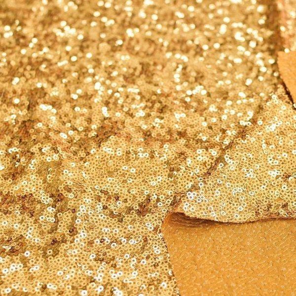 Мелкие пайетки на трикотаже Золото арт. 230925502, фото 2