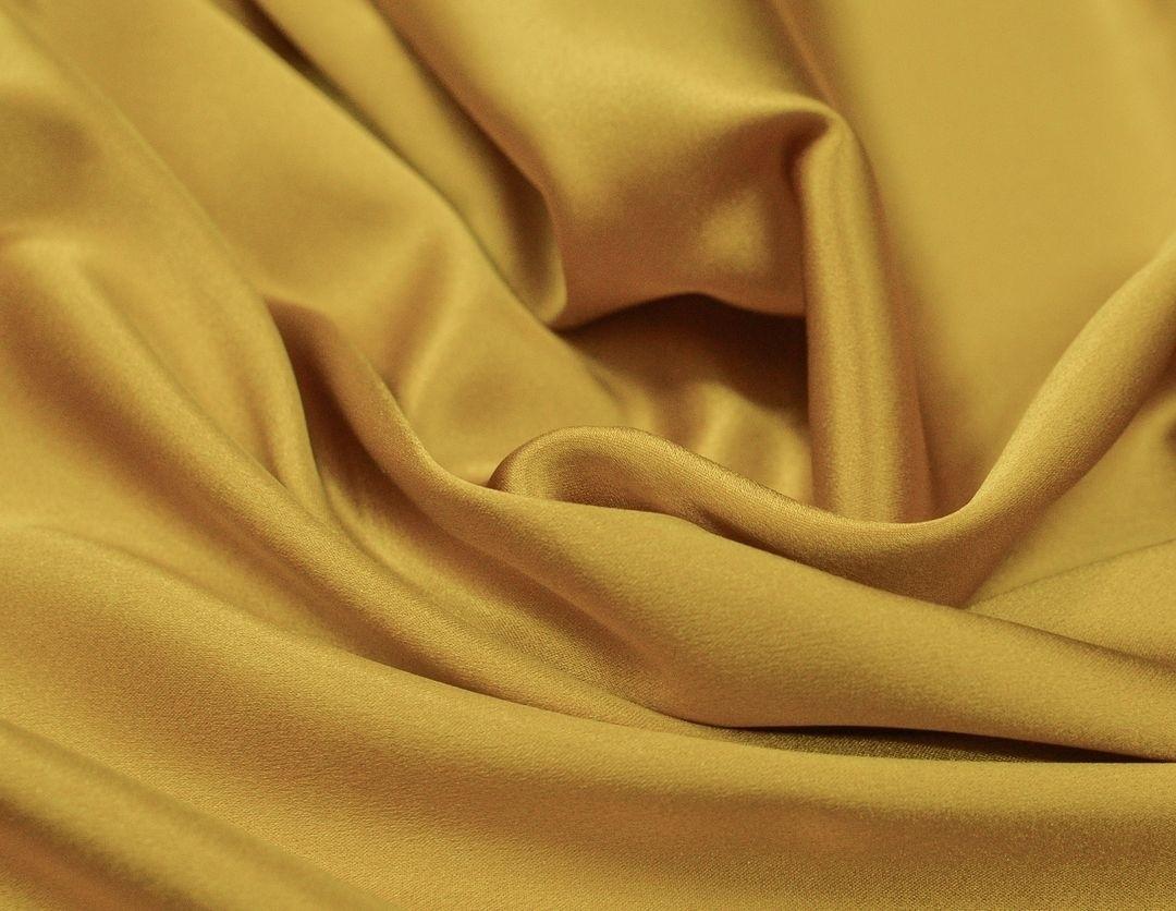 Шелковый атлас плательно- блузочный Горчица арт. 233/79272, фото 2