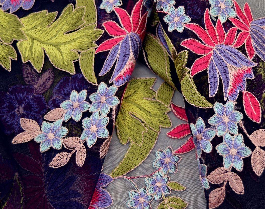 Декоративная вышивка на сетке арт. 230534522, фото 3
