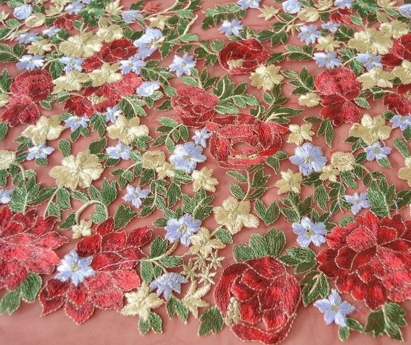 Декоративная вышивка на сетке арт. 230531172, фото 2