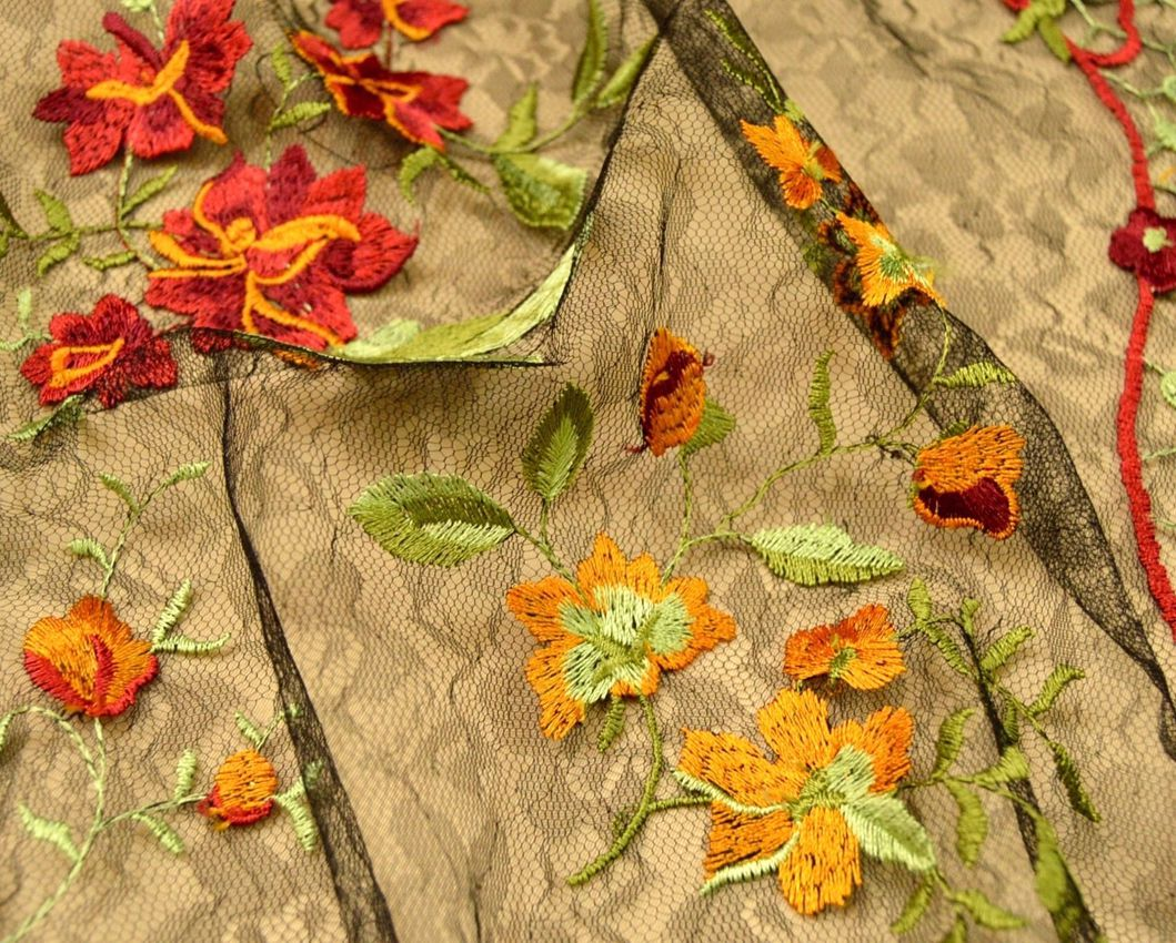 Декоративная вышивка на сетке арт. 230533842, фото 1