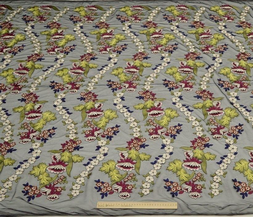Декоративная вышивка на сетке арт. 230534692, фото 4