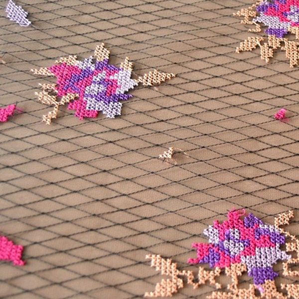 Декоративная вышивка на сетке арт. 230530942, фото 2