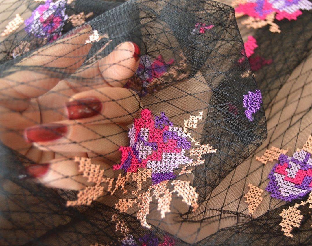 Декоративная вышивка на сетке арт. 230530942, фото 3