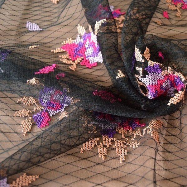 Декоративная вышивка на сетке арт. 230530942, фото 1