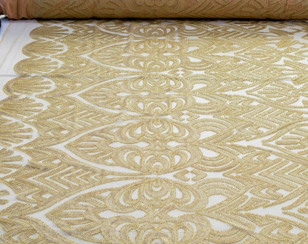 Эффектная вышивка на сетке пайетками и бисером арт. 230917372, фото 2