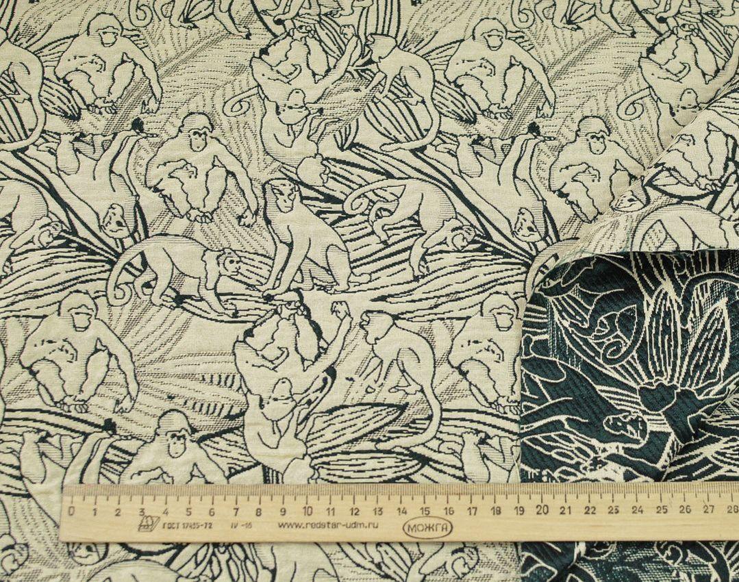 Жаккард костюмный 2-х сторонний (обезьяны) арт. 233/24652, фото 2