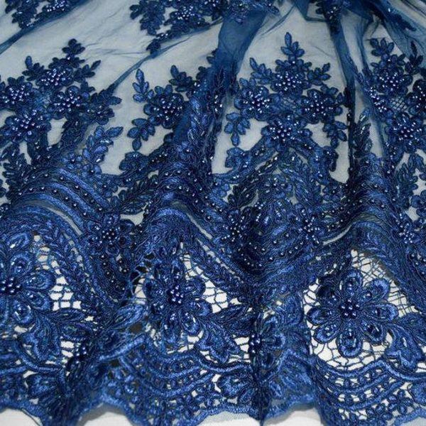 Кружевное полотно с бисером арт. 230390432, фото 1
